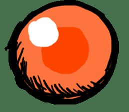 Salmon caviar man sticker #1200727