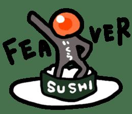 Salmon caviar man sticker #1200731