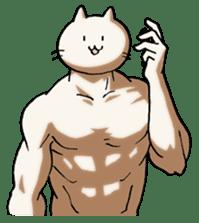 Muscle Cat Sticker sticker #1203146