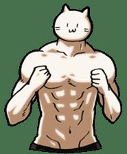 Muscle Cat Sticker sticker #1203147
