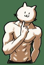 Muscle Cat Sticker sticker #1203148