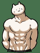 Muscle Cat Sticker sticker #1203149