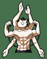 Muscle Cat Sticker sticker #1203152
