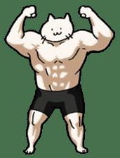 Muscle Cat Sticker sticker #1203154