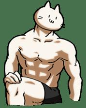 Muscle Cat Sticker sticker #1203156