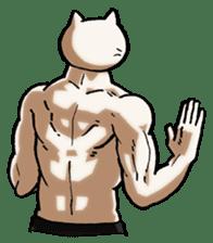 Muscle Cat Sticker sticker #1203158