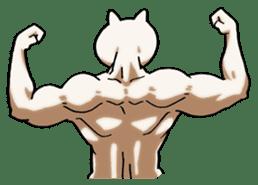 Muscle Cat Sticker sticker #1203161