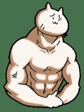 Muscle Cat Sticker sticker #1203163