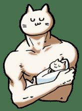 Muscle Cat Sticker sticker #1203164