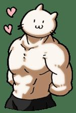 Muscle Cat Sticker sticker #1203168