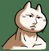 Muscle Cat Sticker sticker #1203178
