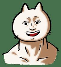 Muscle Cat Sticker sticker #1203179
