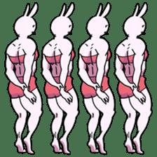Muscle Cat Sticker sticker #1203185