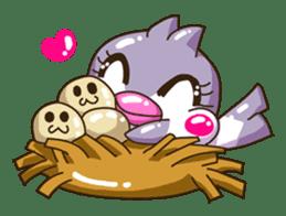 Pumi chan Java sparrow sticker #1203591