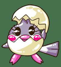 Pumi chan Java sparrow sticker #1203607