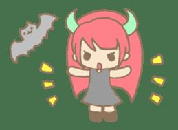 """Girl devil children""""sa-tan"""". sticker #1204506"""