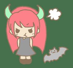 """Girl devil children""""sa-tan"""". sticker #1204507"""