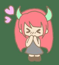 """Girl devil children""""sa-tan"""". sticker #1204512"""