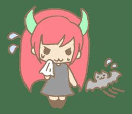 """Girl devil children""""sa-tan"""". sticker #1204514"""