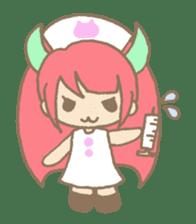 """Girl devil children""""sa-tan"""". sticker #1204522"""