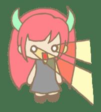 """Girl devil children""""sa-tan"""". sticker #1204534"""