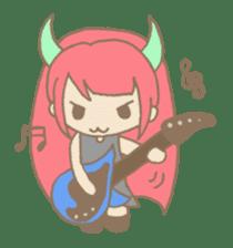 """Girl devil children""""sa-tan"""". sticker #1204536"""