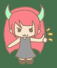 """Girl devil children""""sa-tan"""". sticker #1204538"""