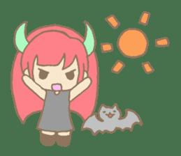 """Girl devil children""""sa-tan"""". sticker #1204539"""