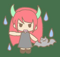 """Girl devil children""""sa-tan"""". sticker #1204541"""