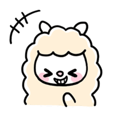 Fluffy Alpaca sticker #1204868