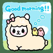 Fluffy Alpaca sticker #1204873