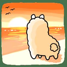 Fluffy Alpaca sticker #1204874