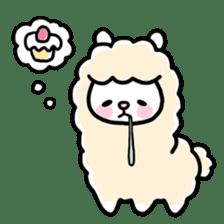 Fluffy Alpaca sticker #1204875