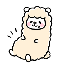 Fluffy Alpaca sticker #1204876