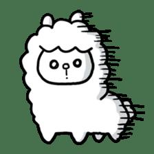Fluffy Alpaca sticker #1204878