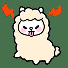 Fluffy Alpaca sticker #1204880