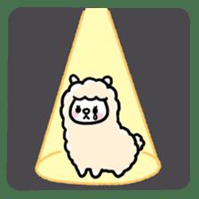 Fluffy Alpaca sticker #1204882
