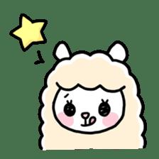Fluffy Alpaca sticker #1204884