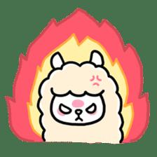 Fluffy Alpaca sticker #1204892