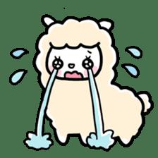 Fluffy Alpaca sticker #1204893
