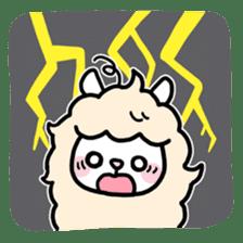 Fluffy Alpaca sticker #1204895