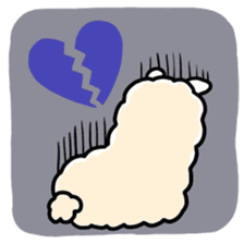 Fluffy Alpaca sticker #1204896