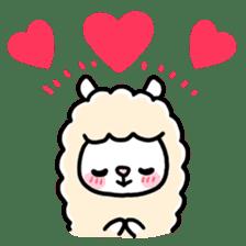Fluffy Alpaca sticker #1204897