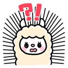 Fluffy Alpaca sticker #1204901