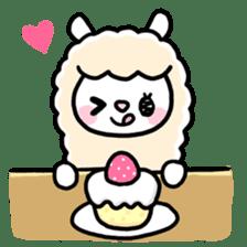 Fluffy Alpaca sticker #1204902