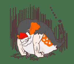 Muscle zebra finch And Friends sticker #1205192