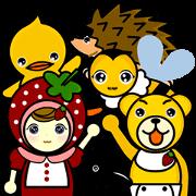 สติ๊กเกอร์ไลน์ Strawberry girl and friends