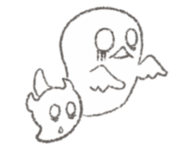 Cute-Ghosts sticker #1211526