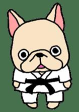 French Bulldog stickers KARATE ver. sticker #1213124