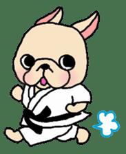 French Bulldog stickers KARATE ver. sticker #1213126